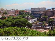 Купить «Вид на улицы Рима и Колизей», фото № 3300713, снято 2 августа 2010 г. (c) Losevsky Pavel / Фотобанк Лори