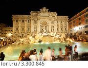 Купить «Фонтан де Треви в Риме ночью», фото № 3300845, снято 3 августа 2010 г. (c) Losevsky Pavel / Фотобанк Лори