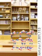 Купить «Модель атомной структуры на столе в кабинете физики», фото № 3301113, снято 14 октября 2010 г. (c) Losevsky Pavel / Фотобанк Лори