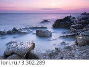 Купить «Красивое морское побережье на закате», фото № 3302289, снято 1 октября 2009 г. (c) Sea Wave / Фотобанк Лори
