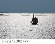 Купить «Острова и парусник в море возле Хельсинки», фото № 3302477, снято 9 августа 2009 г. (c) Олег Жуков / Фотобанк Лори