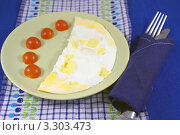 Купить «Яичница с помидорами», фото № 3303473, снято 29 июня 2011 г. (c) Natalya Sidorova / Фотобанк Лори