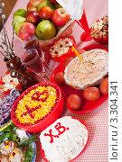 Купить «Праздничные пасхальные блюда на столе», фото № 3304341, снято 10 марта 2011 г. (c) Яков Филимонов / Фотобанк Лори