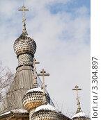 Купить «Москва. Купола храма святого великомученика Георгия Победоносца в Коптево (1997-1998)», фото № 3304897, снято 29 февраля 2012 г. (c) Михаил Ворожцов / Фотобанк Лори