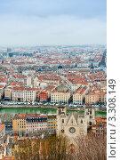 Вид на город со смотровой площадки. Лион. Франция (2012 год). Стоковое фото, фотограф E. O. / Фотобанк Лори