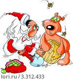Купить «Шана това и медведь (Рош ха-Шана -иудейский новый год)», иллюстрация № 3312433 (c) Vasiliev Sergey / Фотобанк Лори