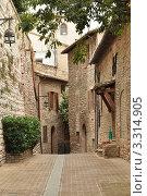 Прогулка по улочкам г.Асизи, Италия (2011 год). Стоковое фото, фотограф Серебрякова Анастасия / Фотобанк Лори
