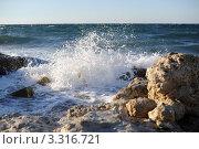 Брызги морского прибоя. Стоковое фото, фотограф Вадим Ярошик / Фотобанк Лори