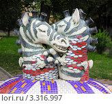 Купить «В детском ландшафтном парке в Киеве (зебры)», фото № 3316997, снято 15 августа 2011 г. (c) Андрей Ерофеев / Фотобанк Лори