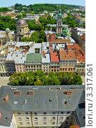 Город Львов, Украина. Вид сверху (2010 год). Стоковое фото, фотограф Петр Малышев / Фотобанк Лори