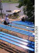 Купить «Места для зрителей на горе Грушинского фестиваля», фото № 3318069, снято 31 мая 2006 г. (c) Василий Козлов / Фотобанк Лори