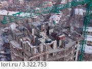 Строящееся здание. Вид сверху. Стоковое фото, фотограф Камалетдинов Ринат Хусаенович / Фотобанк Лори