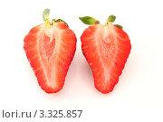 Две половинки клубники. Стоковое фото, фотограф Дмитрий Антонов / Фотобанк Лори