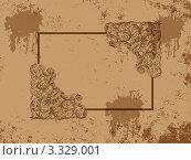 Фон  в винтажном стиле с рамкой. Стоковая иллюстрация, иллюстратор Воробьева Надежда / Фотобанк Лори