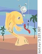 Рыбка. Стоковая иллюстрация, иллюстратор Кухаренко Ефим / Фотобанк Лори
