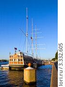 Купить «Парусное судно на Неве», фото № 3332605, снято 11 сентября 2009 г. (c) Михаил Смиров / Фотобанк Лори