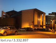 Купить «Абано-Терме. Католическая церковь Святого Сердца (Chiesa del Sacro Cuore), построенная в модернистском стиле», эксклюзивное фото № 3332897, снято 13 февраля 2012 г. (c) Татьяна Лата / Фотобанк Лори