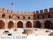 Кызыл Куле (Красная башня) в Алании, Турция. Стоковое фото, фотограф Иван Демьянов / Фотобанк Лори