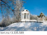 Купить «Беседка Островского в Костроме, зима», фото № 3335589, снято 20 января 2011 г. (c) ElenArt / Фотобанк Лори