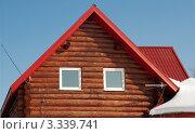 Пластиковые окна, установленные в бревенчатом доме (2012 год). Стоковое фото, фотограф Зобков Георгий / Фотобанк Лори