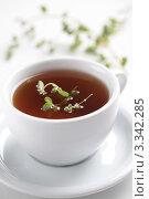 Купить «Чай с майораном», фото № 3342285, снято 4 октября 2011 г. (c) Stockphoto / Фотобанк Лори
