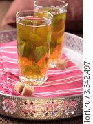 Купить «Марокканский чай на подносе», фото № 3342497, снято 19 октября 2011 г. (c) Stockphoto / Фотобанк Лори