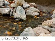 Горная река. Камни и вода. Стоковое фото, фотограф Александр Мартынец / Фотобанк Лори
