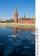 Купить «Москва, Водовзводная (Свиблова) башня Кремля, весна», фото № 3345737, снято 10 марта 2012 г. (c) ИВА Афонская / Фотобанк Лори