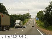 Купить «Трасса М10 недалеко от Валдая», фото № 3347445, снято 29 июня 2009 г. (c) Андрей Ерофеев / Фотобанк Лори