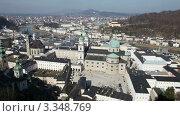 Купить «Панорамный вид на старый город Зальцбурга, Австрия», видеоролик № 3348769, снято 15 марта 2012 г. (c) Алексей Кузнецов / Фотобанк Лори