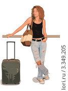 Девушка путешествует. Стоковая иллюстрация, иллюстратор Олег Скударнов / Фотобанк Лори