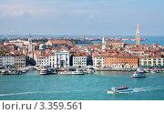 Купить «Италия. Венеция. Вид сверху на лагуну и район Кастелло», фото № 3359561, снято 15 апреля 2010 г. (c) Виктория Катьянова / Фотобанк Лори