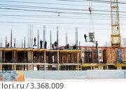 Купить «Строительство нового жилого дома в городе Туле», эксклюзивное фото № 3368009, снято 16 марта 2012 г. (c) Игорь Низов / Фотобанк Лори