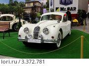 Купить «Автомобиль Jaguar XK-140, с XIX Олдтаймер-галереи Ильи Сорокина», фото № 3372781, снято 10 марта 2012 г. (c) Владимир Артев / Фотобанк Лори
