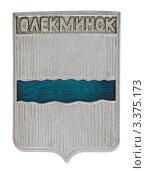 Купить «Значок с изображением герба города Олекминска», фото № 3375173, снято 19 марта 2012 г. (c) Грачев Игорь / Фотобанк Лори