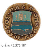 Купить «Значок с изображением герба города Плеса», фото № 3375181, снято 19 марта 2012 г. (c) Грачев Игорь / Фотобанк Лори
