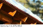 Купить «Весенняя капель», видеоролик № 3375953, снято 22 марта 2012 г. (c) Игорь Жоров / Фотобанк Лори