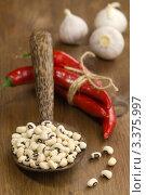 Купить «Фасоль, перец, чеснок», эксклюзивное фото № 3375997, снято 14 февраля 2012 г. (c) Дмитрий Бабанов / Фотобанк Лори