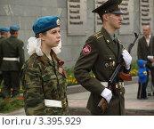 Купить «Почетный караул», фото № 3395929, снято 8 мая 2009 г. (c) Сергей Юрьев / Фотобанк Лори