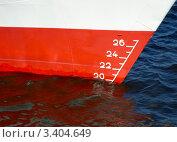 Купить «Ватерлиния корабля», фото № 3404649, снято 13 июля 2005 г. (c) Vesna / Фотобанк Лори