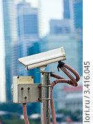 Камера наблюдения в Сингапуре. Стоковое фото, фотограф Дмитрий Рухленко / Фотобанк Лори