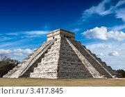 Пирамида майя в Чичен-Ица, Мексика (2008 год). Стоковое фото, фотограф Дмитрий Рухленко / Фотобанк Лори