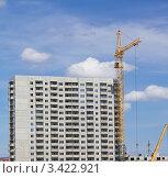 Строительство панельного жилого дома. Стоковое фото, фотограф Павел Воробьёв / Фотобанк Лори