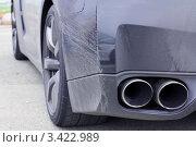 Выхлопная труба автомобиля. Стоковое фото, фотограф Павел Воробьёв / Фотобанк Лори