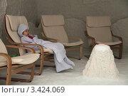 Купить «Галокамера (соляная пещера)», фото № 3424069, снято 15 февраля 2012 г. (c) Игорь Долгов / Фотобанк Лори