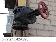 Газовый вентиль. Стоковое фото, фотограф Лев Соловьев / Фотобанк Лори