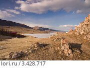 Купить «Берег Байкала», фото № 3428717, снято 7 апреля 2012 г. (c) Sergey / Фотобанк Лори