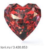 Купить «Рубин с огранкой сердце», иллюстрация № 3430853 (c) Zelfit / Фотобанк Лори