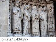 Купить «Готический собор Нотр-Дам в Париже», фото № 3434877, снято 29 сентября 2011 г. (c) katalinks / Фотобанк Лори