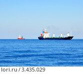 Купить «Грузовые суда в Черном море», фото № 3435029, снято 7 сентября 2011 г. (c) Анна Мартынова / Фотобанк Лори